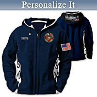 USMC Semper Fi Personalized Men\'s Jacket