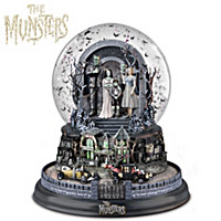The Munsters Hot Rod Herman Water Globe