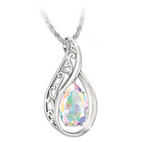 Memories Of You Genuine Topaz Pendant Necklace