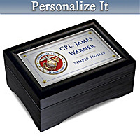 USMC Personalized Keepsake Box