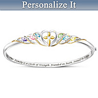 Family, Faith And Love Personalized Bracelet