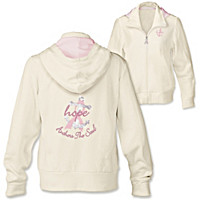 Hope Anchors The Soul Embroidered Women's Hoodie