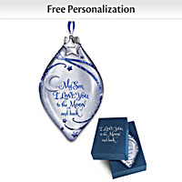 Son, I Love You To The Moon And Back Personalized Ornament