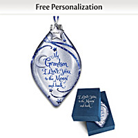 Grandson, I Love You To The Moon Personalized Ornament