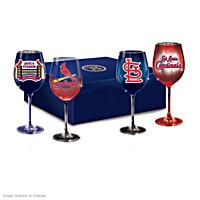 Cardinals Pride Wine Glass Set