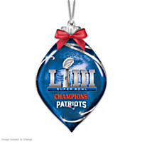 New England Patriots Super Bowl LIII Ornament