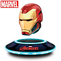 Iron Man Levitating Helmet Sculpture