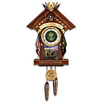 This We'll Defend U.S. Army Cuckoo Clock