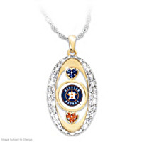 For The Love Of The Game Astros Pendant Necklace