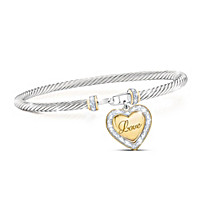 I Love You, My Daughter Diamond Bracelet