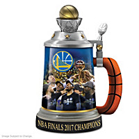 Golden State Warriors 2017 NBA Finals Champions Stein