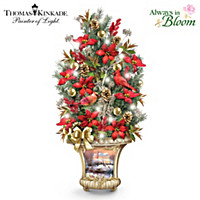 Thomas Kinkade Winter's Elegance Table Centerpiece
