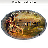 Bless All Who Enter Here Personalized Welcome Sign