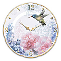 Enchanted Moments Porcelain Wall Clock