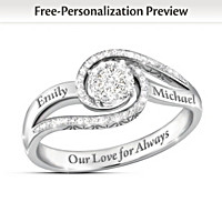 Our Love For Always Diamond Personalized Ring