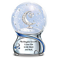 My Daughter-In-Law, I Love You To The Moon Glitter Globe