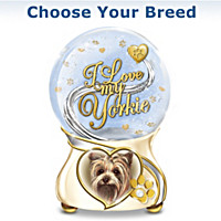 I Love My Little Dog Glitter Globe