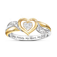 My Family, My Heart, My Joy Diamond Ring