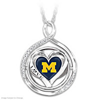 My Heart Flips For The Wolverines Flip Pendant Necklace