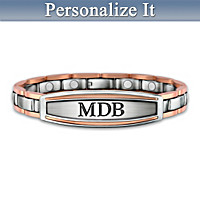 Energy, Power & Strength Personalized Men's Bracelet