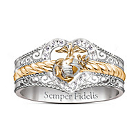 Forever Faithful Marine Diamond Ring