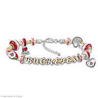 Ohio State Buckeyes Cable Charm Bracelet
