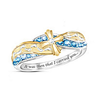 Footprints In The Sand Topaz And Diamond Ring