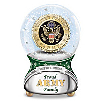 Proud Army Family Musical Glitter Globe