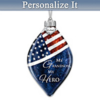 My Grandson, My Hero Personalized Ornament