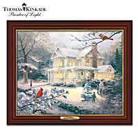 Thomas Kinkade Winter's Cardinals Wall Decor