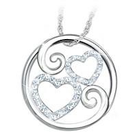 Forever Mother & Daughter Diamond Pendant Necklace