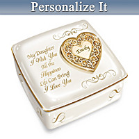 Daughter, I Love You Always Personalized Music Box