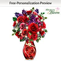 Endless Romance Personalized Table Centerpiece