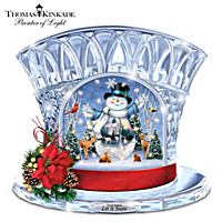 Thomas Kinkade Let It Snow Sculpture