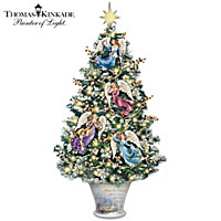 Thomas Kinkade Angelic Blessings Tabletop Tree