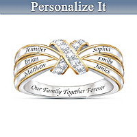 A Family\'s Love Personalized Diamond Ring