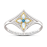 Miracles Blossom Gemstone And Diamond Ring