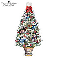 Thomas Kinkade Luminous Joy Tabletop Tree