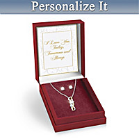 Joined By Love Personalized Pendant Necklace & Earrings Set