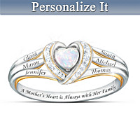 A Mother\'s Joyful Heart Personalized Diamond Ring