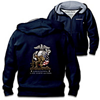 Always Faithful USMC Men\'s Hoodie