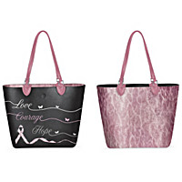Love, Courage, Hope Reversible Tote Bag