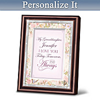 Granddaughter, I Love You Personalized Wall Decor