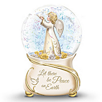 Let There Be Peace On Earth Musical Glitter Globe