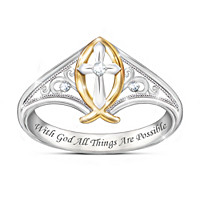 Enduring Faith Ichthus Fish Diamond Ring
