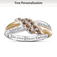 Sweet Embrace Personalized Diamond Ring