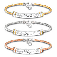 Guiding Words Of Inspiration Bracelet Set