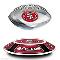 San Francisco 49ers Levitating Football Sculpture