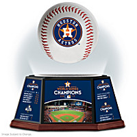 2017 World Series Astros Levitating Baseball Sculpture