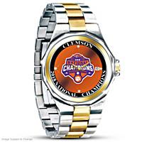 Unrivaled Legends Clemson Tigers Men\'s Diamond Watch